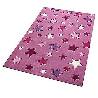 Dywany - Smart Kids - prostych gwiazdek różowy 3984-09