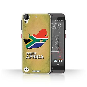 STUFF4 Case/Cover for HTC Desire 630/South Africa/African/Flag Nations