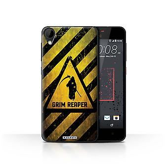 STUFF4 Case/Cover for HTC Desire 825/Death/Reaper/Hazard Warning Signs