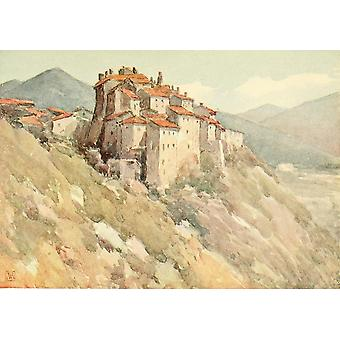 In the Abruzzi 1908 Roccaraso Poster Print by  Amy Atkinson