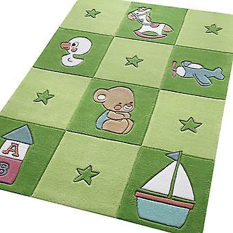 Newborn Rugs 3986 05 In Green
