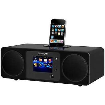 Internet Table top radio Sangean WFR-2D Apple Universal Dock, AUX, DAB+, Internet radio, USB Touchscreen, DLNA-compatibl