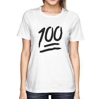 100 очков футболку обратно в школу Tee дамы милые короткие рубашка