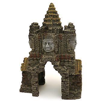 Blue Ribbon ruiner vrag & kranier templet Gate Angkor Wat 18x10x24cm