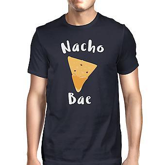 Nocho Bae Herre Navy T-shirt sjove citat Trendy Graphic Tee til fyre