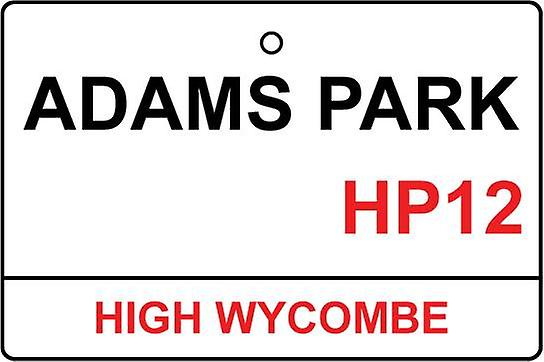 Wycombe Wanderers / Adams Park Street Sign Car Air Freshener