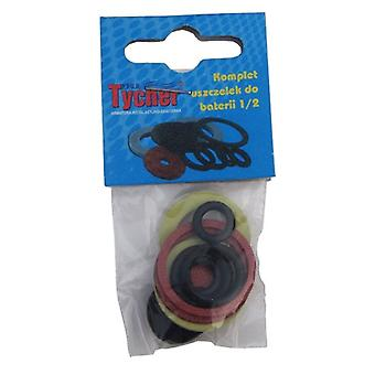 11 Pcs/pack Plumbing Bathroom Taps Gaskets And Washers Set, Rubber