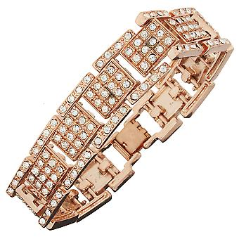 Iced out bling bracelet - cubic zirconia ICE rose gold