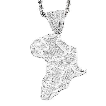 Iced out bling MICRO PAVE pendants - AFRICA
