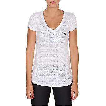 Venum kvinnors grundläggande V-Neck atletisk T-Shirt-vit