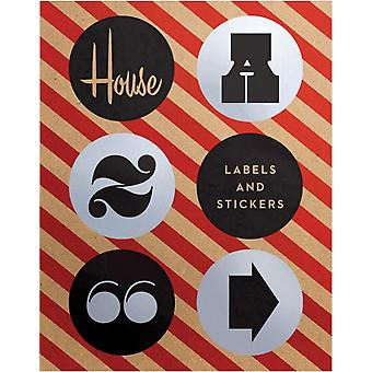 House Industries Labels & Stickers: Over 299 Typographic Stickers for Decor and Design (Accessory) by House Industries