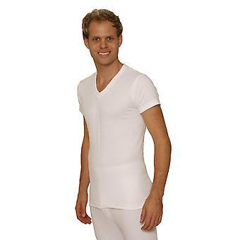 OKTAV Herre termisk undertøj kortærmet 'V'-hals T-Shirt / Vest / Top