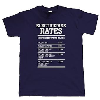 Electricians Rates Mens Funny T Shirt