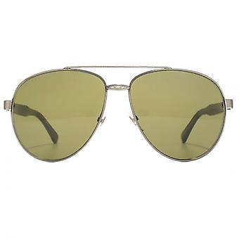 Gucci Iconic Aviator Sunglasses In Silver Horn