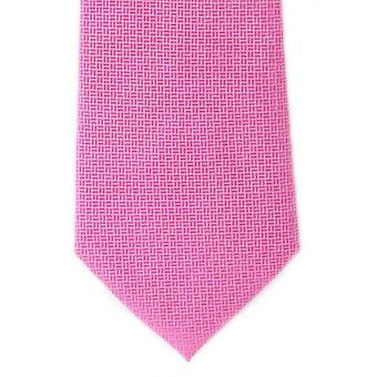 Michelsons of London Basket Weave Silk Tie - Pink