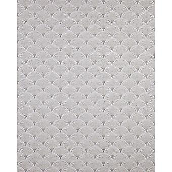 Retro white wallpaper EDEM 1031-10 vinyl wallpaper marked with graphic pattern sparkling grey 5.33 m2