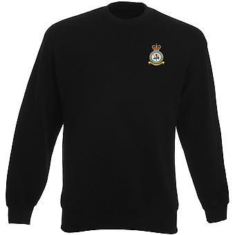 Syerston RAF Station broderad Logo - officiell Royal Air Force Heavyweight tröja