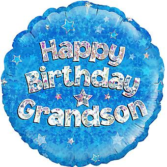 Oaktree 18 Inch Circle Happy Birthday Grandson Foil Balloon
