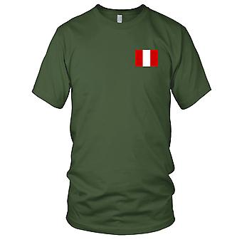 Peru Peruvian Country National Flag - Embroidered Logo - 100% Cotton T-Shirt Kids T Shirt