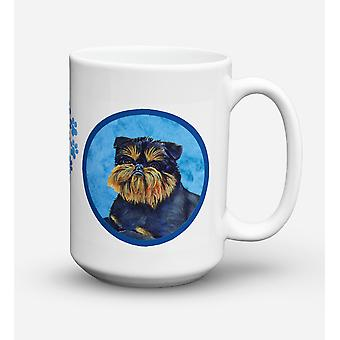 Brussels Griffon  Dishwasher Safe Microwavable Ceramic Coffee Mug 15 ounce