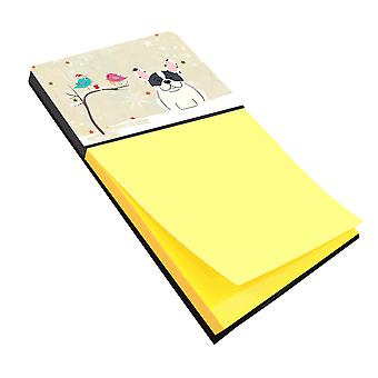 Christmas Presents between Friends French Bulldog Piebald Sticky Note Holder