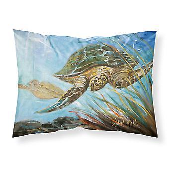 Mar de la tortuga boba tortuga tela estándar funda de almohada