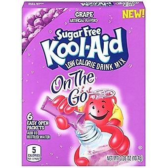 Kool Aid On The Go Sugar Free Grape Drink Mix Singles 2 Box Pack