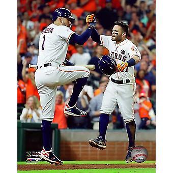 Carlos Correa & Jose Altuve Game 7 of the 2017 American League Championship Series Photo Print