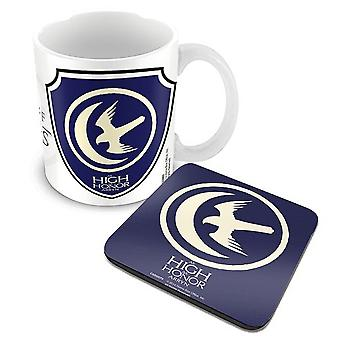 Game Of Thrones Mug and Coaster House Arryn Logo new official boxed Gift set