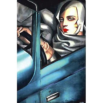 Stampa del manifesto di autoritratto di Tamara De Lempicka (24 x 36)