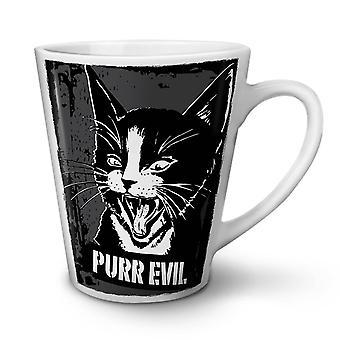 Evil Cute Adorable Cat NEW White Tea Coffee Ceramic Latte Mug 17 oz | Wellcoda