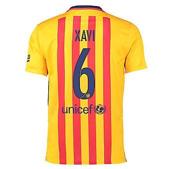 2015-16 Barcelona auswärts Trikot (Xavi 6)
