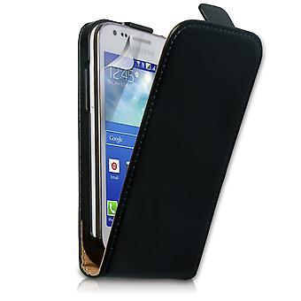 Caseflex Samsung Galaxy Ace 3 Real Leather Flip Case - Black