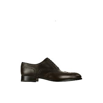 Fratelli Rossetti men's 2160288322 brown leather lace-up shoes