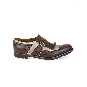 Church's men's SHANGHAIEBONY Braun leather monk shoes