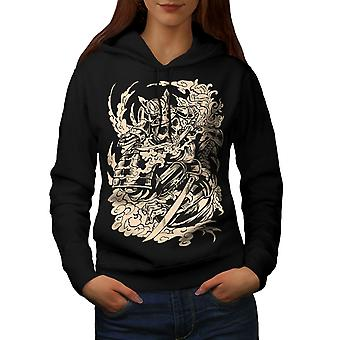 Dead Knight Bones Women BlackHoodie | Wellcoda