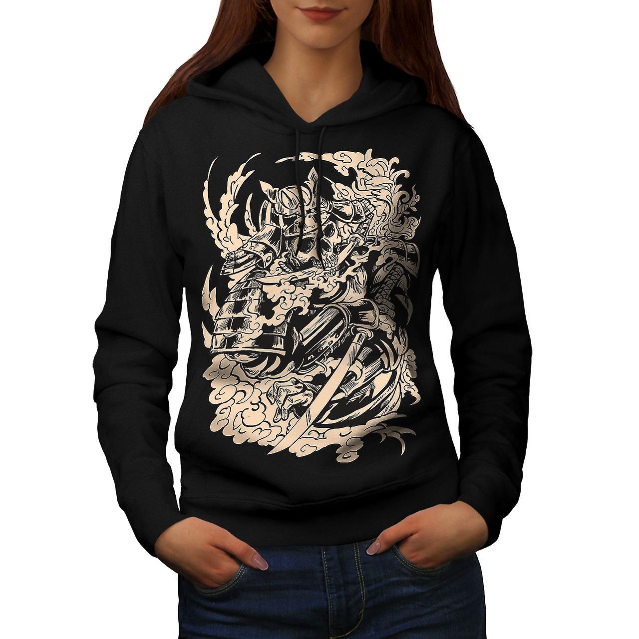 Dead Knight Bones Women BlackHoodie | Wellcoda