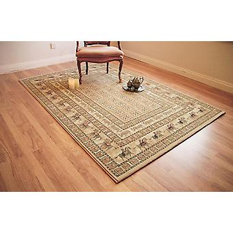 Noble Art 65106-190 Shades of beige with touches of red Rectangle Rugs Traditional Rugs