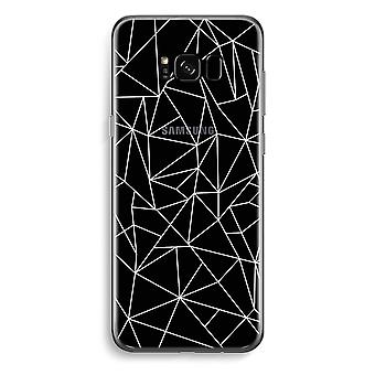 Samsung Galaxy S8 Transparent Case - Geometric lines white