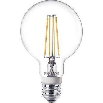 Philips Lighting LED E27 Arbitrary 7 W = 60 W Warm white (Ø x L) 95 mm x 150 mm EEC: A++ dimmable, Filament 1 pc(s)