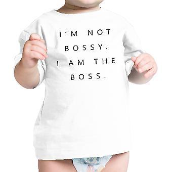 Ik ben de baas Baby Gift Tee Shirt Wit