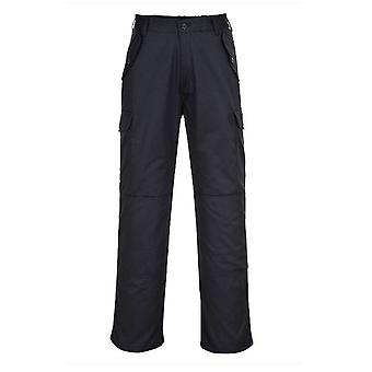 Portwest Combat Work Trousers - Navy Knee-pad Pockets