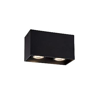 Lucide BODI Ceiling Light Square 2xGU10 Excl Black
