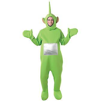 Teletubbies Dipsy verde TV adulto vestido de traje de los hombres de las mujeres STD