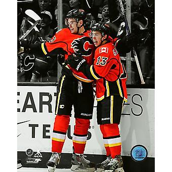 Sean Monahan & Johnny Gaudreau 2015 Spotlight Action Photo Print