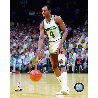 Sidney Moncrief 1986 Action Photo Print