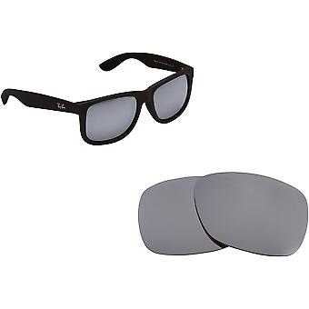 Best SEEK Polarized Replacement Lenses for Ray Ban Justin 4165 Silver Mirror