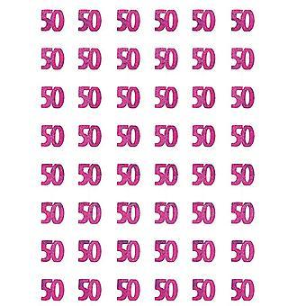 Verjaardag Glitz Pink - 50e verjaardag Prism hangende decoratie