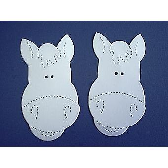 10 Large Horse Faces - White Card | Horse & Pony Kids Crafts