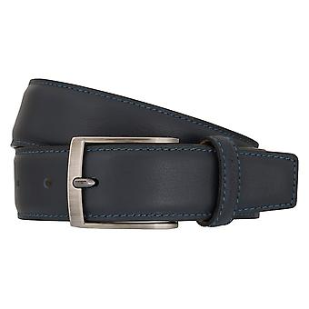 OTTO KERN belts men's belts leather belt Navy/Blue 7007